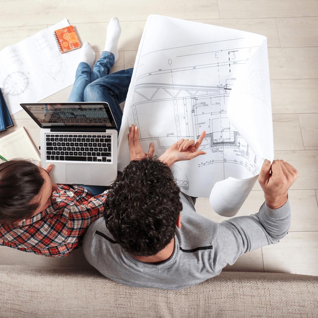 Besprechung von Bauplänen