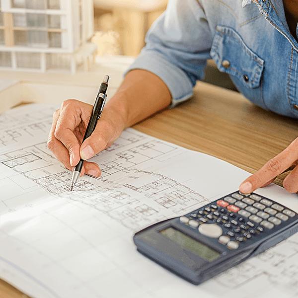Bauplan vom Hausbau