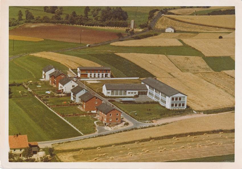 Luftbild des Anwesens